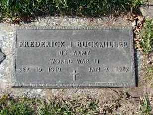 BUCKMILLER, FREDERICK J. - Minnehaha County, South Dakota | FREDERICK J. BUCKMILLER - South Dakota Gravestone Photos