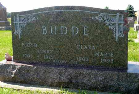 BUDDE, CLARA MARIE - Minnehaha County, South Dakota | CLARA MARIE BUDDE - South Dakota Gravestone Photos