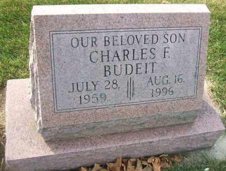 BUDEIT, CHARLES F. - Minnehaha County, South Dakota | CHARLES F. BUDEIT - South Dakota Gravestone Photos