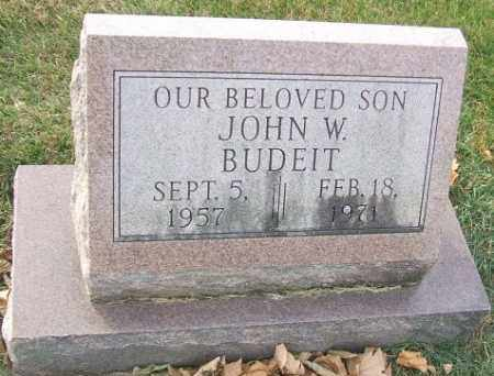 BUDEIT, JOHN W. - Minnehaha County, South Dakota | JOHN W. BUDEIT - South Dakota Gravestone Photos