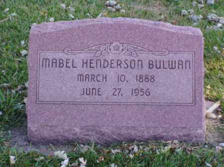 HENDERSON BULWAN, MABEL - Minnehaha County, South Dakota | MABEL HENDERSON BULWAN - South Dakota Gravestone Photos