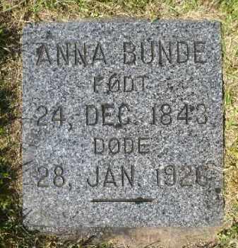 BUNDE, ANNA - Minnehaha County, South Dakota   ANNA BUNDE - South Dakota Gravestone Photos