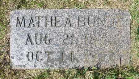 BUNDE, MATHEA - Minnehaha County, South Dakota | MATHEA BUNDE - South Dakota Gravestone Photos