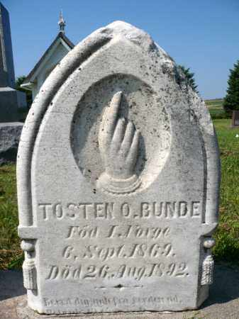 BUNDE, TOSTEN O. - Minnehaha County, South Dakota   TOSTEN O. BUNDE - South Dakota Gravestone Photos