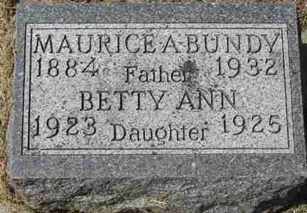 BUNDY, MAURICE A. - Minnehaha County, South Dakota | MAURICE A. BUNDY - South Dakota Gravestone Photos