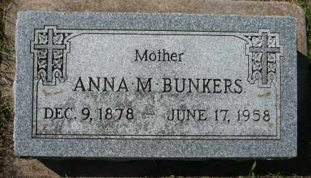 BUNKERS, ANNA M. - Minnehaha County, South Dakota | ANNA M. BUNKERS - South Dakota Gravestone Photos