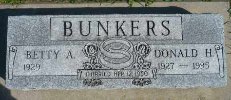 BUNKERS, DONALD H. - Minnehaha County, South Dakota | DONALD H. BUNKERS - South Dakota Gravestone Photos