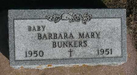 BUNKERS, BARBARA MARY - Minnehaha County, South Dakota | BARBARA MARY BUNKERS - South Dakota Gravestone Photos