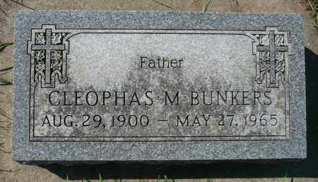 BUNKERS, CLEOPHAS M. - Minnehaha County, South Dakota | CLEOPHAS M. BUNKERS - South Dakota Gravestone Photos