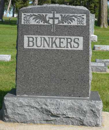 BUNKERS, FAMILY MARKER - Minnehaha County, South Dakota   FAMILY MARKER BUNKERS - South Dakota Gravestone Photos
