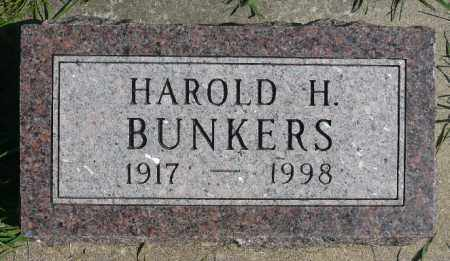 BUNKERS, HAROLD H. - Minnehaha County, South Dakota | HAROLD H. BUNKERS - South Dakota Gravestone Photos