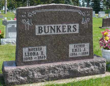 BUNKERS, EMIL J. - Minnehaha County, South Dakota | EMIL J. BUNKERS - South Dakota Gravestone Photos