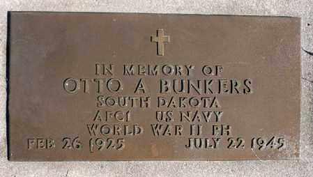 BUNKERS, OTTO ANTHONY - Minnehaha County, South Dakota   OTTO ANTHONY BUNKERS - South Dakota Gravestone Photos