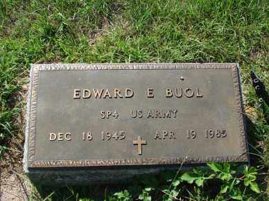 BUOL, EDWARD E. - Minnehaha County, South Dakota | EDWARD E. BUOL - South Dakota Gravestone Photos