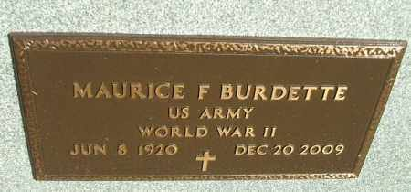 BURDETTE, MAURICE (WWII) - Minnehaha County, South Dakota | MAURICE (WWII) BURDETTE - South Dakota Gravestone Photos