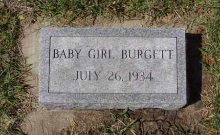 BURGETT, BABY GIRL - Minnehaha County, South Dakota | BABY GIRL BURGETT - South Dakota Gravestone Photos