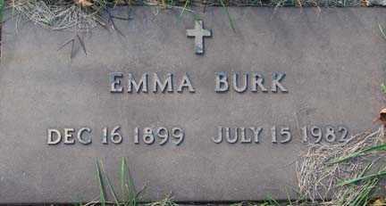 BURK, EMMA - Minnehaha County, South Dakota | EMMA BURK - South Dakota Gravestone Photos