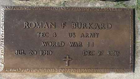 BURKARD, ROMAN F. (WWII) - Minnehaha County, South Dakota   ROMAN F. (WWII) BURKARD - South Dakota Gravestone Photos