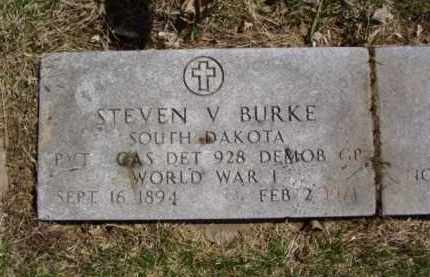 BURKE, STEVEN V. - Minnehaha County, South Dakota | STEVEN V. BURKE - South Dakota Gravestone Photos