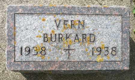 BURKARD, VERNON GEORGE - Minnehaha County, South Dakota   VERNON GEORGE BURKARD - South Dakota Gravestone Photos
