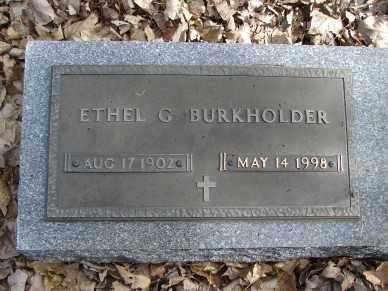 BURKHOLDER, ETHEL G. - Minnehaha County, South Dakota | ETHEL G. BURKHOLDER - South Dakota Gravestone Photos