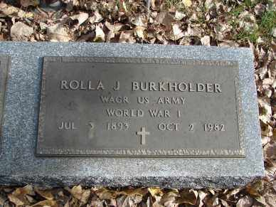 BURKHOLDER, ROLLA J. - Minnehaha County, South Dakota | ROLLA J. BURKHOLDER - South Dakota Gravestone Photos