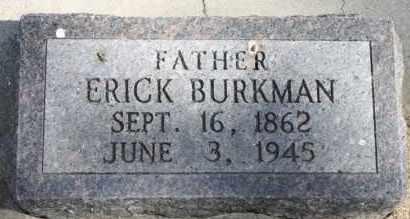 BURKMAN, ERICK - Minnehaha County, South Dakota   ERICK BURKMAN - South Dakota Gravestone Photos