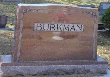 BURKMAN, FAMILY MARKER - Minnehaha County, South Dakota | FAMILY MARKER BURKMAN - South Dakota Gravestone Photos