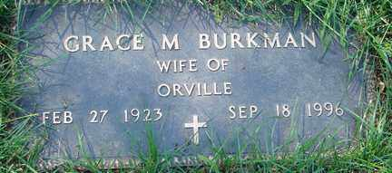 BURKMAN, GRACE M. - Minnehaha County, South Dakota | GRACE M. BURKMAN - South Dakota Gravestone Photos