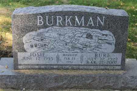 BURKMAN, BURT - Minnehaha County, South Dakota | BURT BURKMAN - South Dakota Gravestone Photos