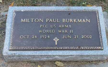 BURKMAN, MILTON PAUL (WWII) - Minnehaha County, South Dakota | MILTON PAUL (WWII) BURKMAN - South Dakota Gravestone Photos