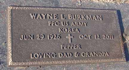 BURKMAN, WAYNE L. - Minnehaha County, South Dakota | WAYNE L. BURKMAN - South Dakota Gravestone Photos