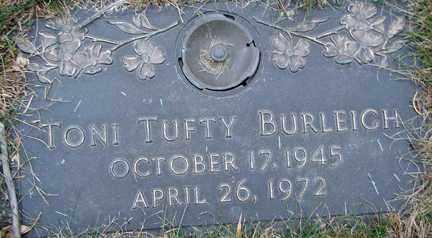 TUFTY BURLEIGH, TONI - Minnehaha County, South Dakota | TONI TUFTY BURLEIGH - South Dakota Gravestone Photos