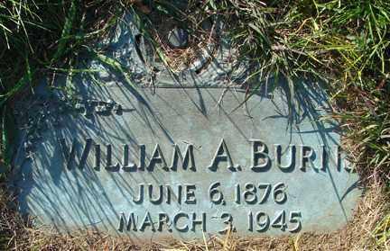 BURNS, WILLIAM A. - Minnehaha County, South Dakota | WILLIAM A. BURNS - South Dakota Gravestone Photos