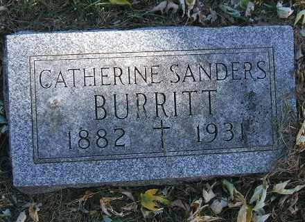 SANDERS BURRITT, CATHERINE ELIZABETH - Minnehaha County, South Dakota | CATHERINE ELIZABETH SANDERS BURRITT - South Dakota Gravestone Photos