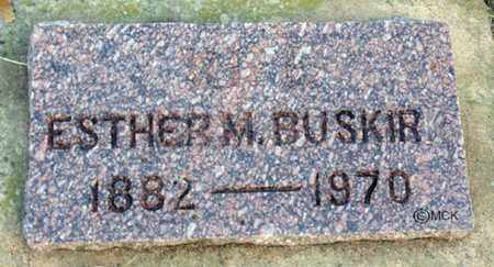 BUSKIRK, ESTHER M. - Minnehaha County, South Dakota | ESTHER M. BUSKIRK - South Dakota Gravestone Photos