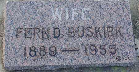 BUSKIRK, FERN D. - Minnehaha County, South Dakota | FERN D. BUSKIRK - South Dakota Gravestone Photos