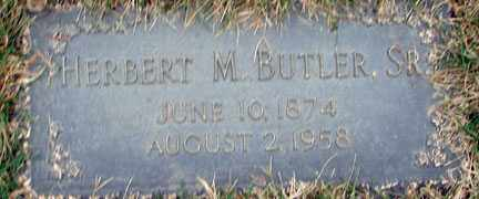 BUTLER, HERBERT M. SR. - Minnehaha County, South Dakota | HERBERT M. SR. BUTLER - South Dakota Gravestone Photos