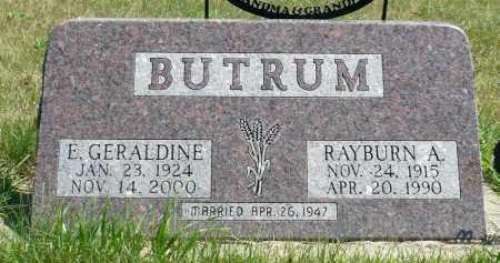 BUTRUM, E. GERALDINE - Minnehaha County, South Dakota | E. GERALDINE BUTRUM - South Dakota Gravestone Photos