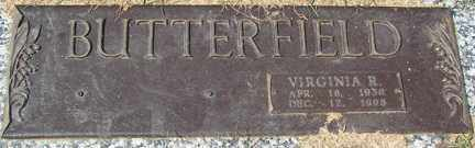 BUTTERFIELD, VIRGINIA R. - Minnehaha County, South Dakota | VIRGINIA R. BUTTERFIELD - South Dakota Gravestone Photos