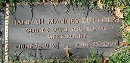 BUTTOLPH, HANNAH - Minnehaha County, South Dakota   HANNAH BUTTOLPH - South Dakota Gravestone Photos