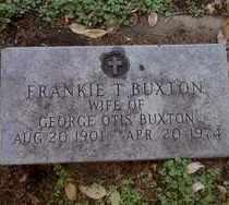 BUXTON, FRANKIE T - Minnehaha County, South Dakota | FRANKIE T BUXTON - South Dakota Gravestone Photos