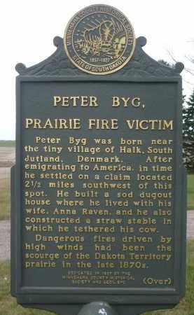 *BYG, PETER (HISTORIC MARKER FRONT SIDE) - Minnehaha County, South Dakota | PETER (HISTORIC MARKER FRONT SIDE) *BYG - South Dakota Gravestone Photos