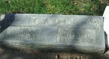 GRAYSON CADE, MYRTLE L. - Minnehaha County, South Dakota | MYRTLE L. GRAYSON CADE - South Dakota Gravestone Photos