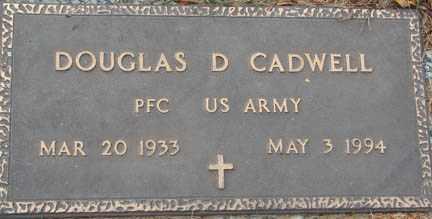 CADWELL, DOUGLAS D. - Minnehaha County, South Dakota | DOUGLAS D. CADWELL - South Dakota Gravestone Photos