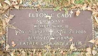 CADY, ELTON C. - Minnehaha County, South Dakota | ELTON C. CADY - South Dakota Gravestone Photos