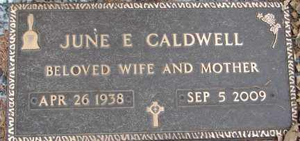 CALDWELL, JUNE E. - Minnehaha County, South Dakota | JUNE E. CALDWELL - South Dakota Gravestone Photos
