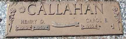 CALLAHAN, CAROL E. - Minnehaha County, South Dakota | CAROL E. CALLAHAN - South Dakota Gravestone Photos