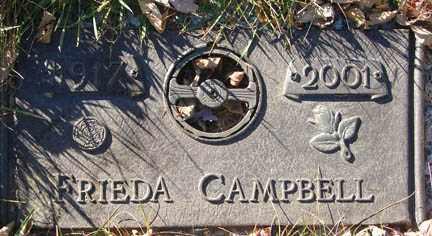 CAMPBELL, FRIEDA - Minnehaha County, South Dakota | FRIEDA CAMPBELL - South Dakota Gravestone Photos