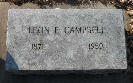 CAMPBELL, LEON EDGAR - Minnehaha County, South Dakota | LEON EDGAR CAMPBELL - South Dakota Gravestone Photos